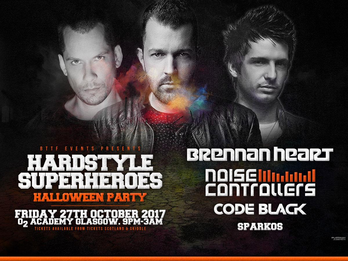 Hardstyle Superheroes Halloween Party Tickets | O2 Academy Glasgow