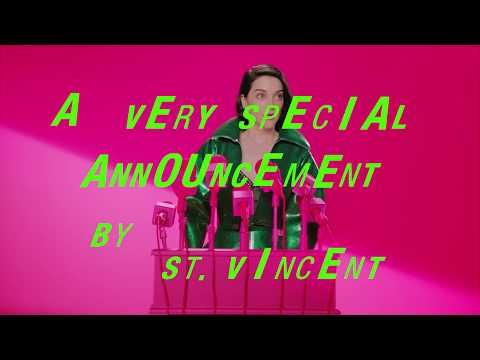 Embedded thumbnail for St. Vincent - tour announcement